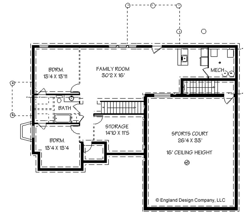 House plans with basketball courts inside england house for House plans with indoor sport court