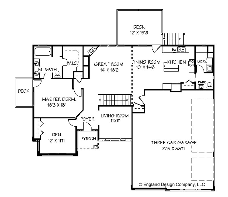 House plans bluprints home plans garage plans and for Single story floor plan
