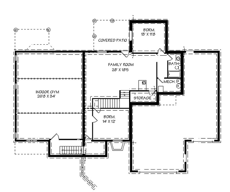 House plans bluprints home plans garage plans and for Basketball gym floor plan
