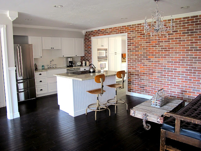 A Brick Wall And A Kitchen England House Plans Blog